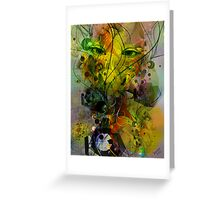 Pastel Colors Abstract Art-Human Eyes Dynamic Lines And Shapes Greeting Card