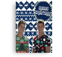 Merry TeenWolf-mas [Twins] Canvas Print
