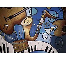 Musical Mural Photographic Print