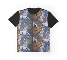 Musical Mural Graphic T-Shirt