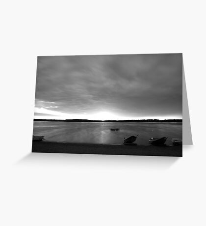 Beach and boats Greeting Card