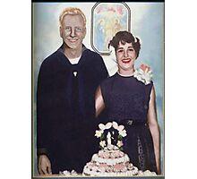 MOM AND DAD WEDDING Photographic Print