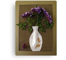 vase with statice collage Canvas Print