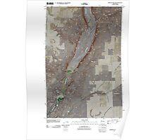 USGS Topo Map Washington State WA Jameson Lake SW 20110425 TM Poster
