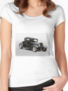 1929 Ford Model A Roadster 3QF Women's Fitted Scoop T-Shirt