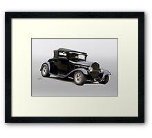 1929 Ford Model A Roadster 3QF Framed Print