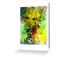 Colorful Abstract Digital Art-Dynamic Shapes And Lines Greeting Card