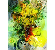 Colorful Abstract Digital Art-Dynamic Shapes And Lines Photographic Print