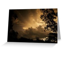 skyscapes #66, copper sky Greeting Card
