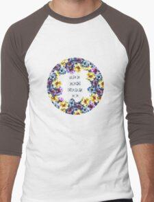 BALI0 BLUE Men's Baseball ¾ T-Shirt