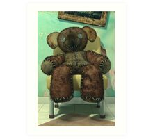 The Old and Unloved Teddy Bear Art Print