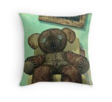 The Old and Unloved Teddy Bear Throw Pillow