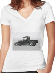 1928 Ford Roadster Pickup Women's Fitted V-Neck T-Shirt