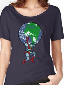 Captain Planet Shrugged Women's Relaxed Fit T-Shirt