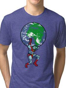 Captain Planet Shrugged Tri-blend T-Shirt