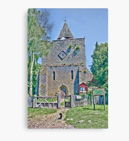 St Nicholas And The Cat Canvas Print