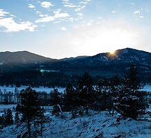 Monumental Mountain at Sun Down by tsarts