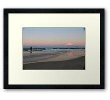 Sunshine Coast fisherman Framed Print