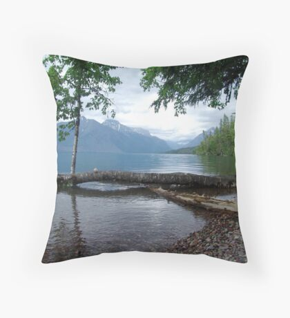 Fallen Aspen, Lake McDonald - Glacier National Park, MT Throw Pillow