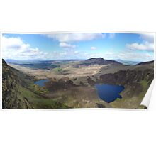 The Comeragh Mountains in Waterford County, Ireland Poster