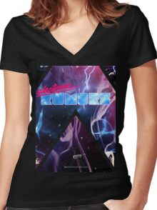 Electronic Rumors: Triangles Women's Fitted V-Neck T-Shirt