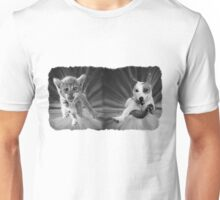 Cat and Dog Oil Painting Unisex T-Shirt
