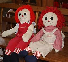 RAGGEDY ANN AND ANDY DOLLS by Pauline Evans