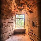 Kenilworth Castle ( 4 )  Window by Larry Lingard-Davis