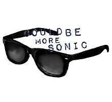 Could Be More Sonic - Sonic Glasses Illustration Photographic Print