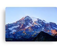 Alpine Glow on Rainier Canvas Print