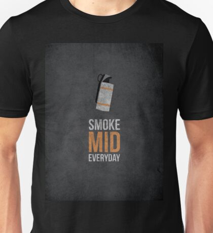 Smoke Mid Everyday - Cs:Go Unisex T-Shirt