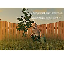 When Old Men Plant Trees Photographic Print