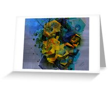 Abstract Digital Art-Dynamic Geometric Shapes And Lines Greeting Card