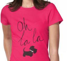Oh la la Scottie Womens Fitted T-Shirt