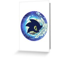Sonic The Hedgehog Planet Greeting Card