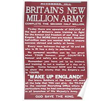 Britains new million army Complete the second half million 575 Poster
