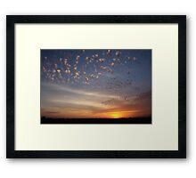Sunset over overpass Framed Print