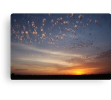 Sunset over overpass Canvas Print