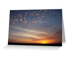 Sunset over overpass Greeting Card