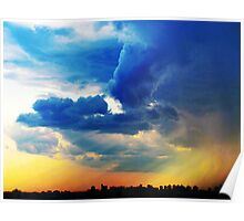 storm clouds over New York City Poster