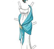 Jane Austen style Paper Doll by EmClarke979