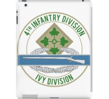 4th Infantry CIB iPad Case/Skin