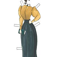 Gibson Girl style Paper Doll by EmClarke979