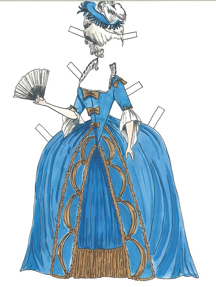 Marie Antoinette style Paper doll by EmClarke979