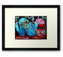 Zombie Brain Surgeon Framed Print