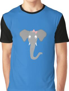 Elephant head with pink ribbon Graphic T-Shirt