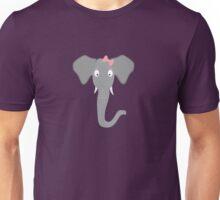 Elephant head with pink ribbon Unisex T-Shirt