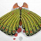green moth  (original sold) by federico cortese
