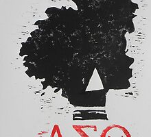Delta Sigma Theta (block print) by jlynnart