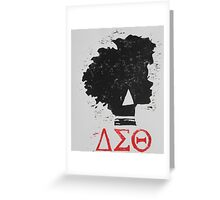 Delta Sigma Theta (block print) Greeting Card